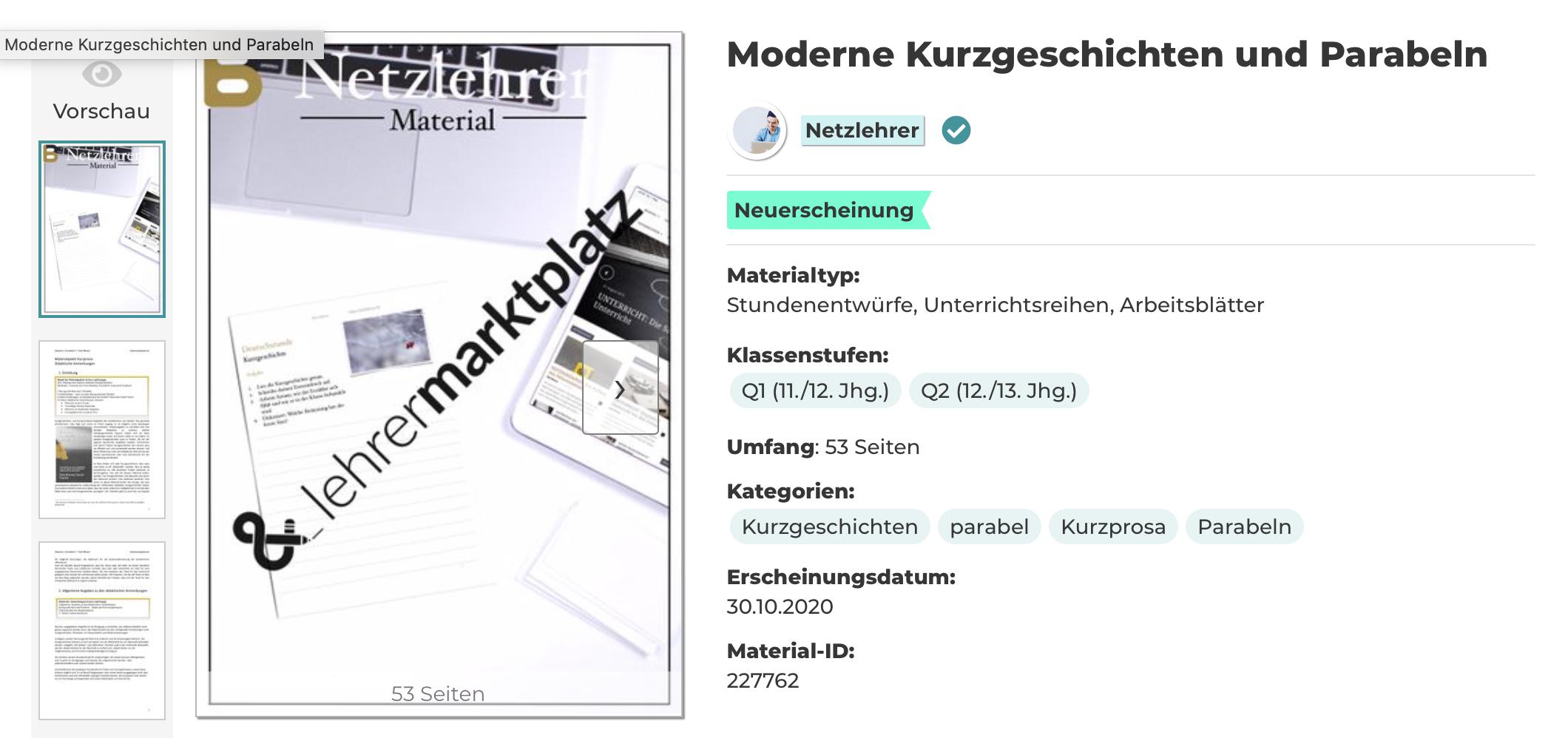 Deutsch einfache kurzgeschichten Kurzgeschichten